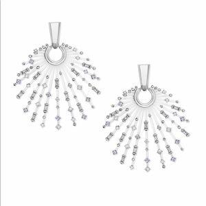 Kendra Scott Fabia Silver Earrings in Lilac Mix